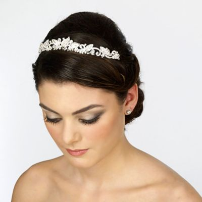 Small Rhinestone Leaf Bridal Tiara