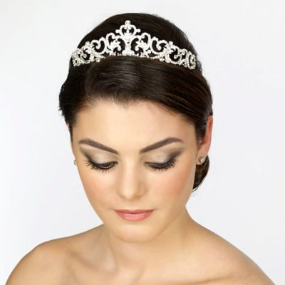 Rhinestone Pearl Bridal Tiara