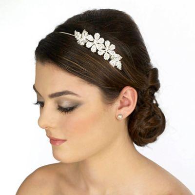 Rhinestone Flower Bridal Band