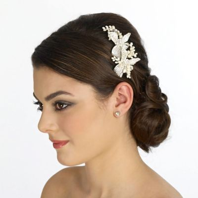 Ivory Silver Bridal Clip