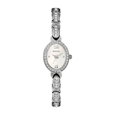 Bulova Crystal Collection Ladies Mother of Pearl Watch with Swarvoski® Elements