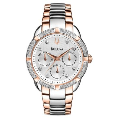 Bulova Maribor Collection Ladies 36mm Diamond Watch in Two-Tone Stainless Steel