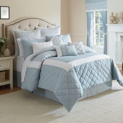 Winslet California King Comforter Set in Blue