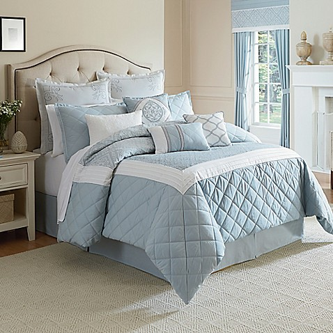 Winslet comforter set in blue bed bath beyond - Bed bath and beyond bedroom furniture ...