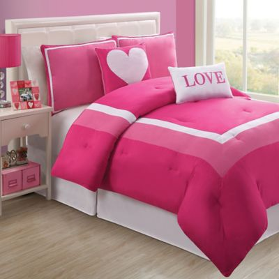 Hotel Juvi Twin Comforter Set in Pink