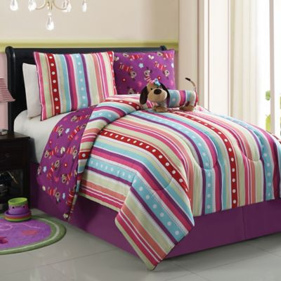 Poodle Lily Reversible Twin Comforter Set
