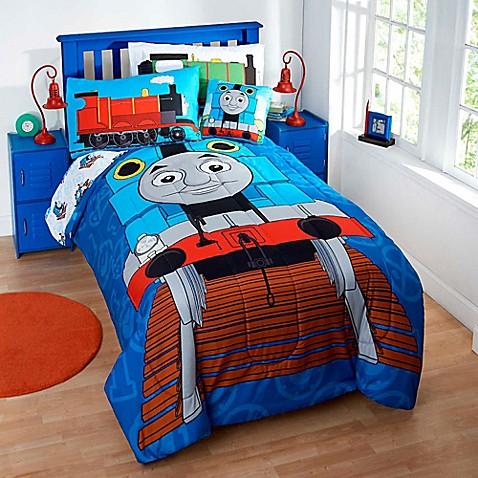 Thomas the tank engine reversible comforter set bed bath for Full bath set