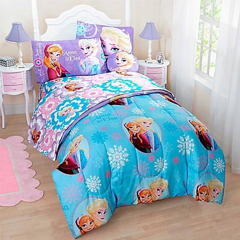 Buy Disney 174 Frozen 6 Piece Reversible Twin Comforter Set