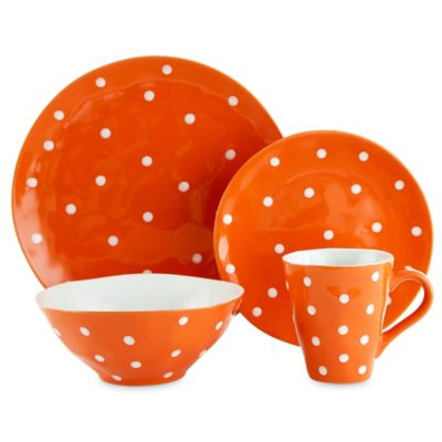 Maxwell & Williams™ Sprinkle 4-Piece Place Setting in Orange