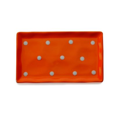 Maxwell & Williams™ Sprinkle Rectangular Tray in Orange