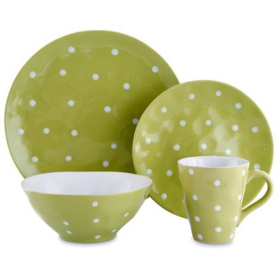 Maxwell & Williams™ Sprinkle Collection 4-Piece Place Setting in Lime