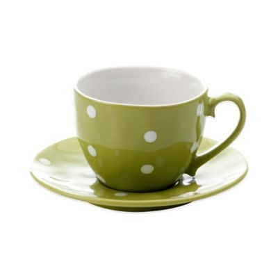 Maxwell & Williams™ Sprinkle Collection Cup and Saucer Set in Lime