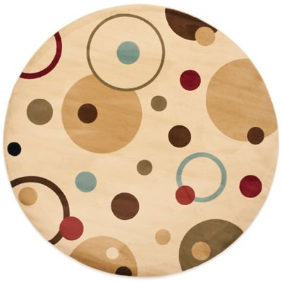 Safavieh Vera 7-Foot Round Rug in Ivory/Multi