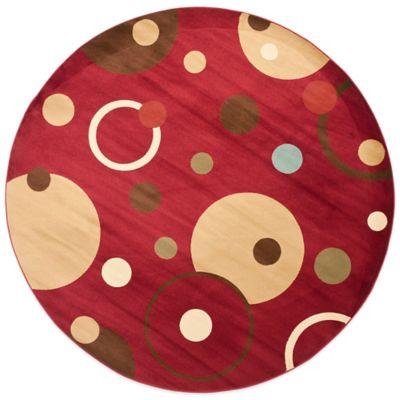 Safavieh Vera Red/Multi 7-Foot Round Rug