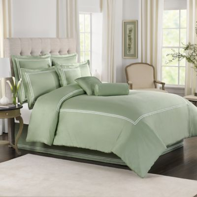 Wamsutta® Baratta Stitch King Comforter Set in Sage