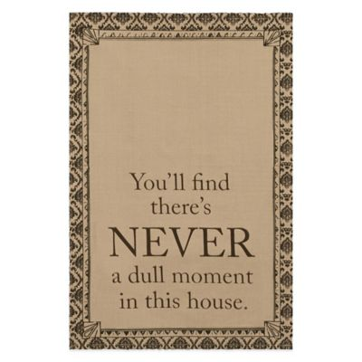 "Downton Abbey® Life Collection ""Never"" Tea Towel"
