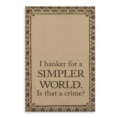 Downton Abbey® Life Collection Simpler World Tea Towel