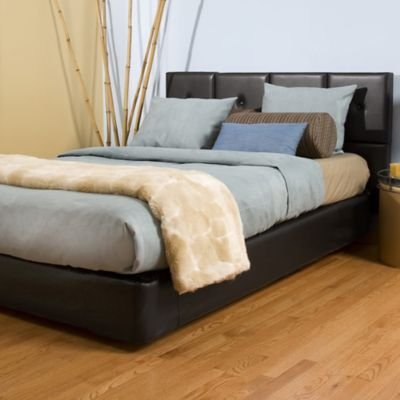 Howard Elliott® Avanti Queen Bed and Headboard Kit in Black