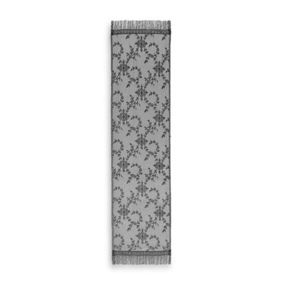 Downton Abbey® Yorkshire Collection Lace 72-Inch x 20-Inch Table Runner in Black