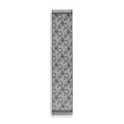 Downton Abbey® Yorkshire Collection Lace 84-Inch x 20-Inch Table Runner in Black