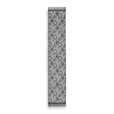 Downton Abbey® Yorkshire Collection Lace 96-Inch x 20-Inch Table Runner in Black
