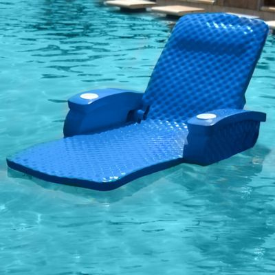 Super Soft® Adjustable Pool Recliner in Marina Blue