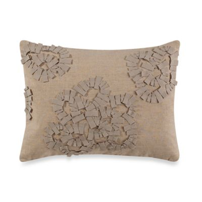 Vera Wang Etch Roses Breakfast Toss Pillow