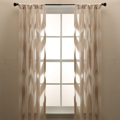 Brock Sheer Rod Pocket 84-Inch Window Curtain Panel in Ivory