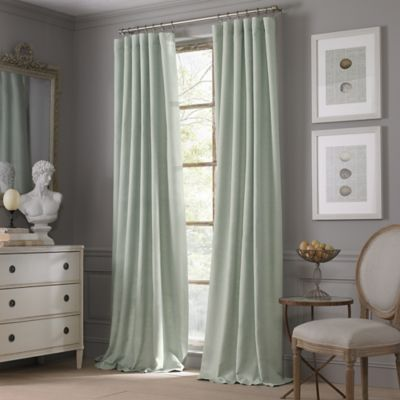 Valeron Estate Cotton Linen 84-Inch Window Curtain Panel in Flax