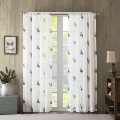 Pinecone 63-Inch Sheer Window Curtain Panel