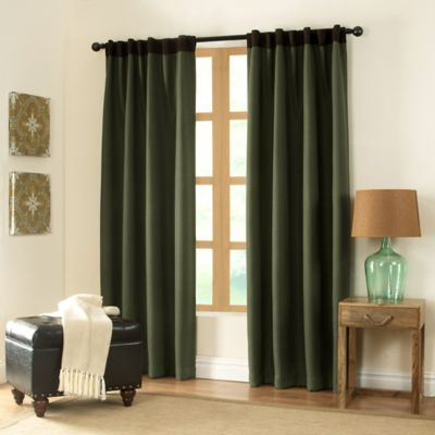 Remsen 95-Inch Window Curtain Panel in Earth