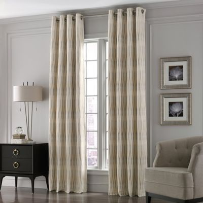 Valeron Lustre Grommet Top 108-Inch Long Window Curtain Panel in Sand