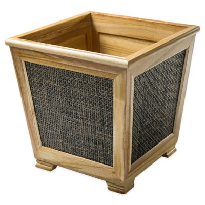 Uptown Wastebasket in Dark Finish