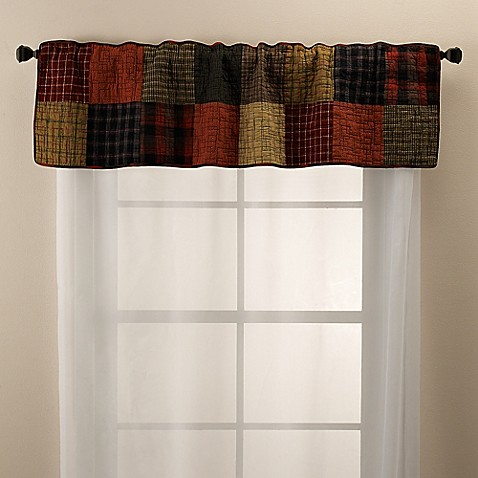 sharp bathroom window coverings | Buy Donna Sharp Woodland Square Window Valance from Bed ...
