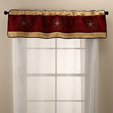 sharp bathroom window coverings | Buy Donna Sharp True Texas Window Valance from Bed Bath ...