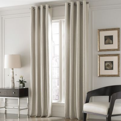 Valeron Lustre Solid 84-Inch Window Curtain Panel in Sand