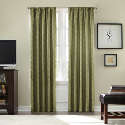 Athena Rod Pocket Blackout 63-Inch Window Curtain Panel in Black