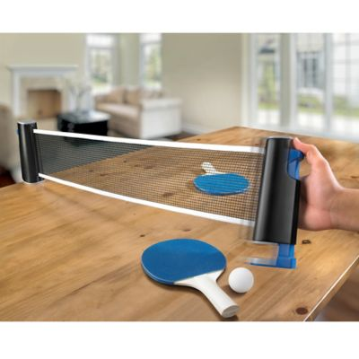 Black Series Portable Table Tennis Set