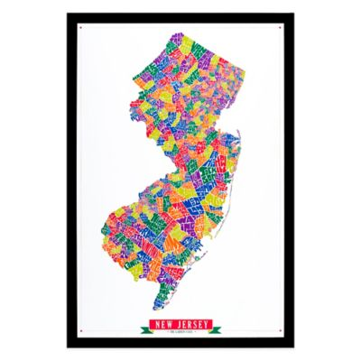 New Jersey Framed Wall Art