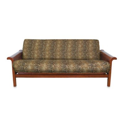 Loft NY Brushed Twill Queen Futon Cover in Cheetah Print