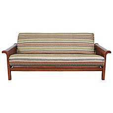 Loft NY Standard Brushed Twill Futon Cover in Geometric Stripe