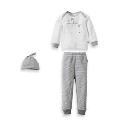 "Burt's Bee's Baby™ Family Time Size 0-3M 3-Piece Organic Cotton ""Buzz Bee"" Set in White"