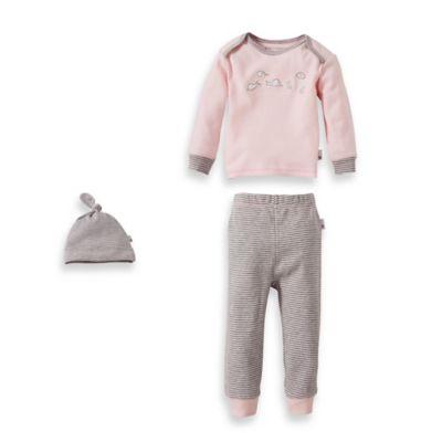 "Burt's Bee's Baby™ Family Time Newborn 3-Piece Organic Cotton ""Happy Snails"" Set in Pink"