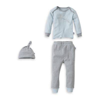 "Burt's Bees Baby® Family Time Newborn 3-Piece Organic Cotton ""Chirp, Hop"" Set in Blue"