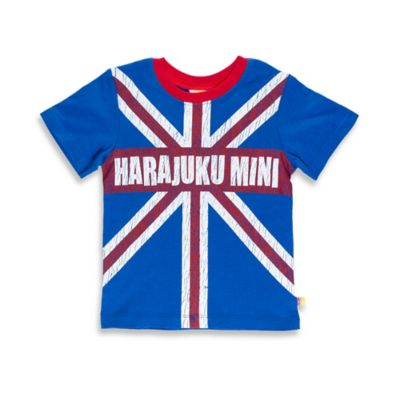 Harajuku Mini Size 18M Britain Themed Short Sleeve T-Shirt