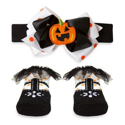 AD Sutton Halloween Novelty T-Strap Sock and Headband Set