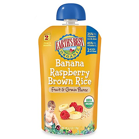 ... Best® Organic 4.2 oz. Banana Raspberry Brown Rice Fruit & Grain Puree