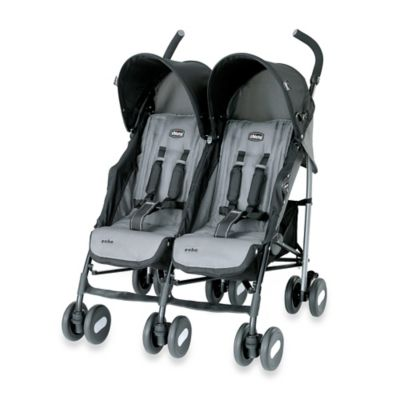 Strollers > Chicco® Echo™ Twin Stroller in Coal