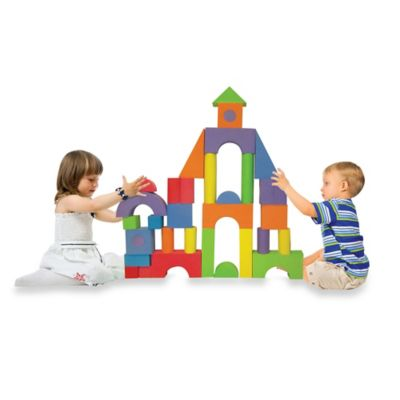 Verdes 52-Piece Jumbo Foam Building Blocks Set