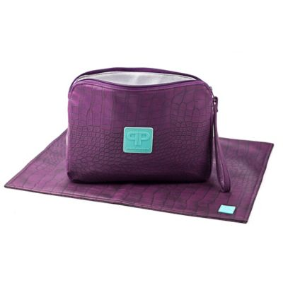 Posh Play Diaper Pad and Clutch Combo in Eggplant